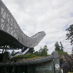 the Holmenkollen jump tower 10 minutes walking distance from the hotel