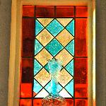 Leadlight lounge window trimmings.