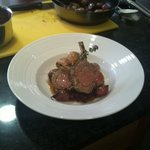 The final product - rack of lamb with braised red cabbage,