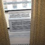 the ac unit for a 2 bedroom suite: cannot close curtains