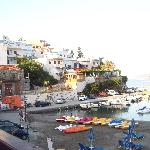 View from Taverna Akrogiali in the harbour
