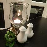 Table light in the restuarnt