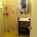 The bathroom, everything new and clean and the shower was fantastic!