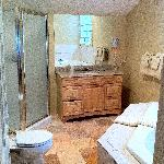 A Picture of the Master Bathroom with the Jacuzzi Tub