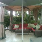 Cabana along poolside...