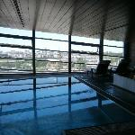 Grand Hyatt Berlin - view from the swimming pool - June 2 2011