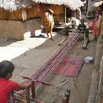 Weaving in the nearby village of Sade