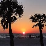 Sunset from the Clearwater Beach