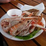 Langoustines at Seafood Hut