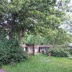 Hostel front yard
