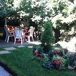 more of the patio