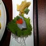Eel with black seaweed