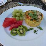 Sun-dried Tomato and Artichoke Strata