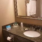 Beautiful new granite countertops in all 200 guest bathrooms installed August 2011