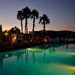 The pool at dawn.