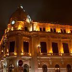 Le palais de l'Assemblée vu de nuit