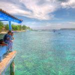 fishing on the peir on Gili!!!