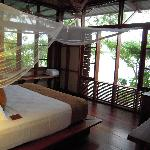 bedroom upstairs with killer view and sounds of howler monkeys and birds