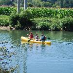 Canoeing towards the Pyrenees