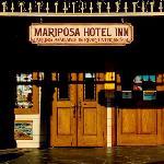 Mariposa Hotel Inn's front door in downtown Mariposa, California