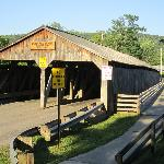 Covered bridge around the corner