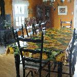 The kitchen where breakfast was served
