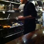 One of the chefs hard at work.