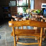 The dining kitchen area