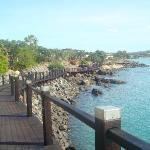 The walk to the marina