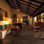 The veranda of the cafe