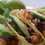 Las Muriettas Shrimp Tacos-Soo good!