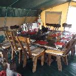 Mess tent at Porini Marai