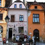 Pensiunea San Genaro & pizzeria, pictured from the main square