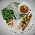 Chao Tom shrimp paste on sugar cane