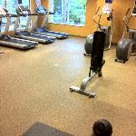 Recently refurbished gym