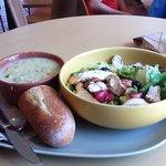 Strawberry Poppyseed Salad w/ Wild Rice Soup!