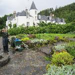 Attadale House and one of the gardeners