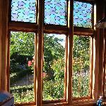 Pen-y-bryn Lodge - view out of Billard room to garden