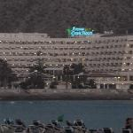 View of the hotel from Los Cristianos Beach
