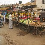 Local market off the main street
