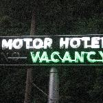 cool neon motel sign