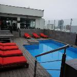 nice rooftop pool scene