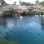 Looking across the Blue Hole