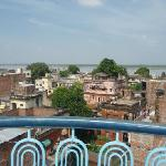 ganga river view from roof