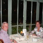 's Avonds aan het diner met romantisch uitzicht op slotgracht
