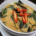 Seafood curry homok