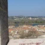 Il camping Bagatelle visto dalle mura di Avignone