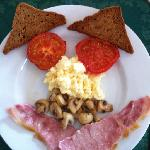 Smiley breakfast (with gluten free fried bread!!)