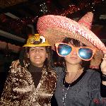 Me and my cousin!!! The hat and the glasses were there!!