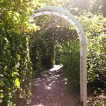 The entry to the garden surrounding our cottage